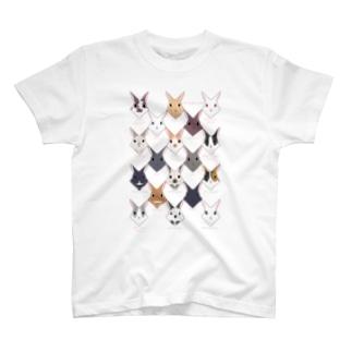 18羽のうさぎさん T-shirts