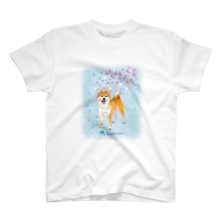 柴犬(花吹雪と王冠) T-shirts