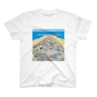 湘南ランドスケープ05:茅ケ崎ヘッドランド T-shirts