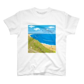 湘南ランドスケープ08:海辺のハマダイコン T-shirts