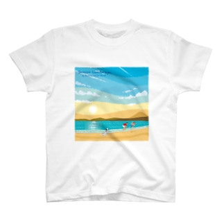 湘南デザイン室:Negishi Shigenoriの湘南ランドスケープ02:ひこうき雲 T-shirts