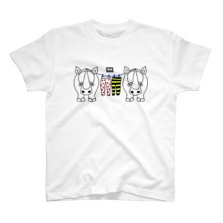 サイの洗濯干し(codycoby) T-shirts