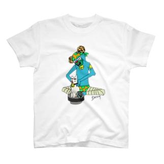 DoT529 ✴︎ドッティーゴーニーキューのネコスイカマニアカラー T-Shirt