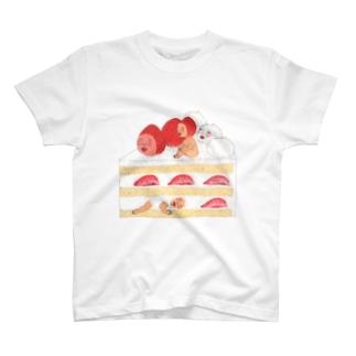 いちごショートケーキ T-shirts