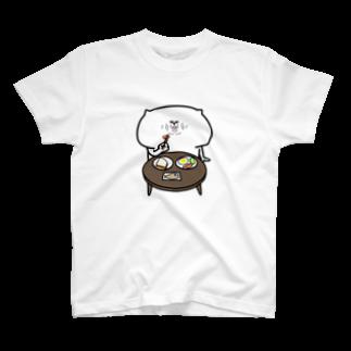 よしすみショップの食事する猫 T-shirts
