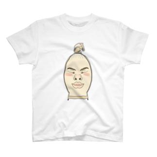 ストッキング顔 T-shirts
