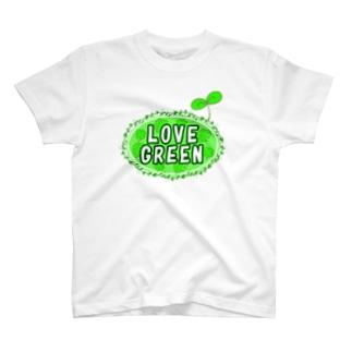 LOVE GREEN (ふたば) T-shirts