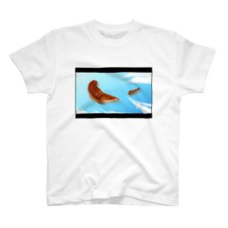大空を飛ぶウナギの蒲焼Tシャツ T-shirts