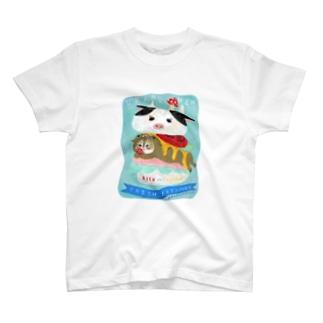 こまめがバーガー(アクリル画) T-shirts