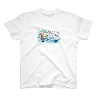 エイミーと猫のお父さん02 T-shirts