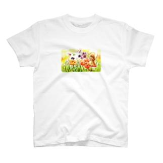 エイミーと猫のお父さん03 T-shirts