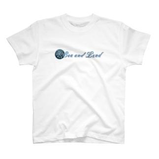 Sea and Land(テキスト横) T-shirts
