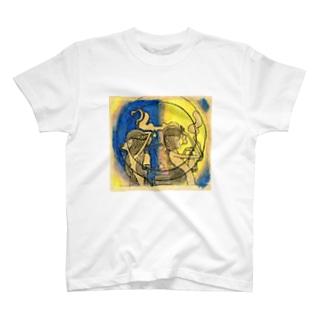 鐘を持ったふたり T-shirts