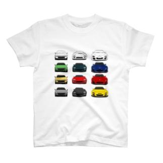 歴代RX-7(3×4:カラー1) T-shirts