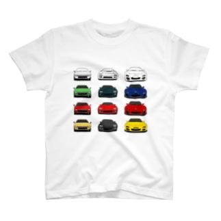 歴代RX-7(3×4:カラー2) T-shirts
