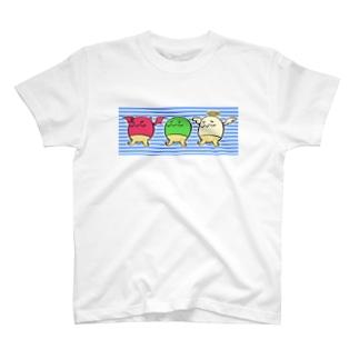 かぷ丸トリオ(青) T-shirts