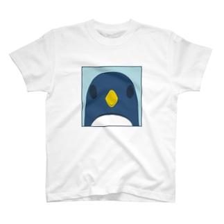 正面ペンギンバッグ T-shirts