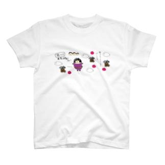 飛べおかっぱねこちゃん。 T-shirts
