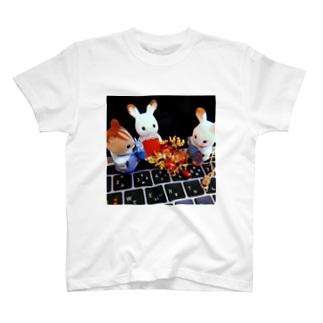 お友達と柘榴 T-shirts
