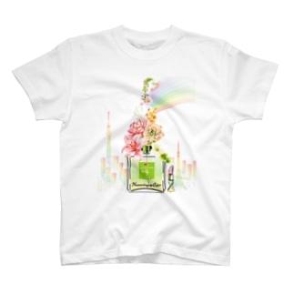 アンドアイデザイン 数秘&カラー🄬オマージュボトルNo9&OLIVE T-shirts