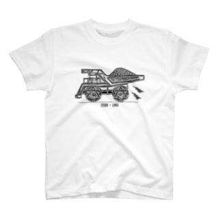 車のイラスト ダンプカー T-shirts