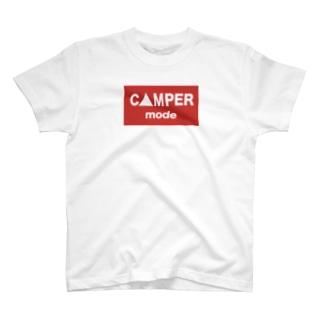 CAMPERMODEロゴスクエア T-shirts