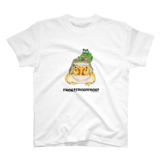 カエルのピラミッド T-shirts