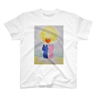 寄り添う猫さん T-shirts