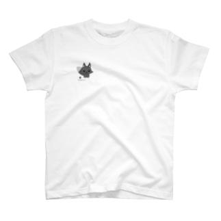 白狐のくこちゃん♂ T-shirts