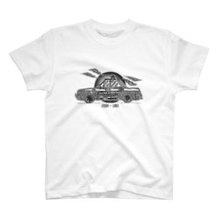車のイラスト パトカー T-shirts