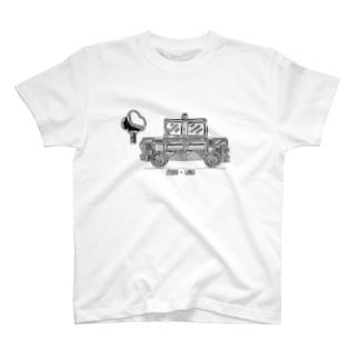 車のイラスト タクシー T-shirts