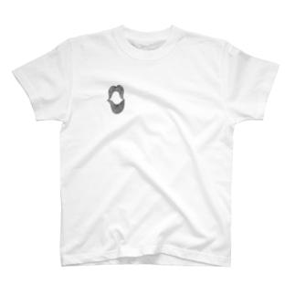 くちびる・Black(両面) T-shirts