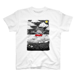 大海原の絵 T-shirts