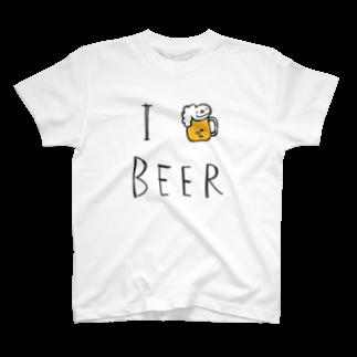 リズムパレットのI LOVE BEER by リズムバー T-shirts