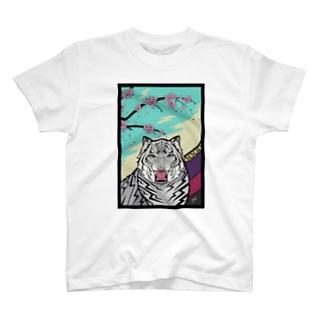桜に幕 T-shirts