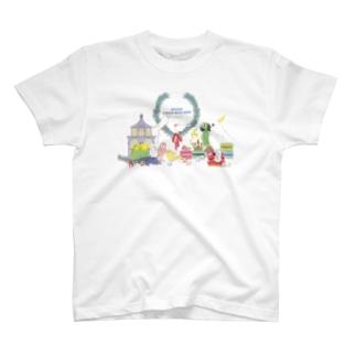 ドレス鳥さんず T-shirts