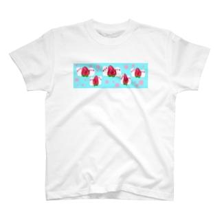 あま〜い♩苺だいふく小鳥♩ T-shirts