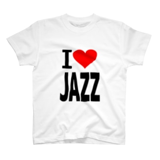 愛 ハート JAZZ ( I  Love JAZZ ) T-shirts