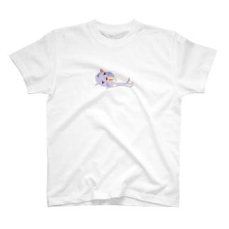 ネコ、ゴロリ T-shirts