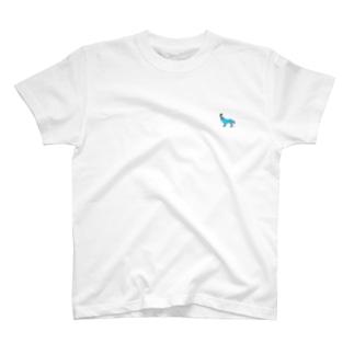 ohkami 限定塗りブルー T-shirts