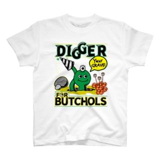 BUTCHOLS DIGGER!Tシャツみどり T-shirts