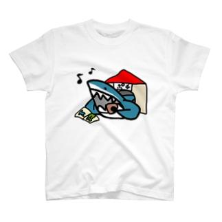 ポチ(鮫) T-shirts