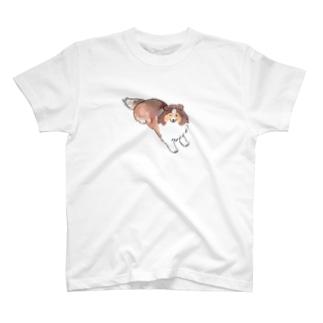 何かを待っているシェルティ・セーブル T-shirts