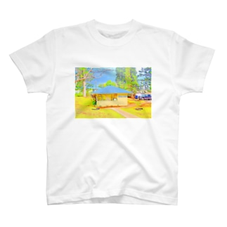 ラナイ島にある小さく可愛いBank of Hawaii(イラスト) T-shirts