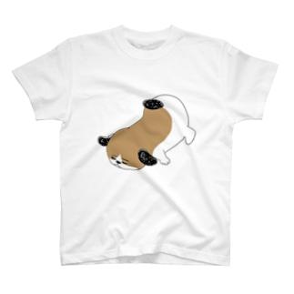 もじゃまるうつぶせ T-shirts