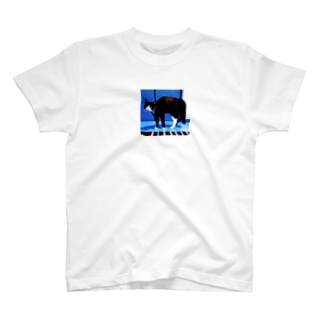 ボフ猫(ブルー) T-shirts