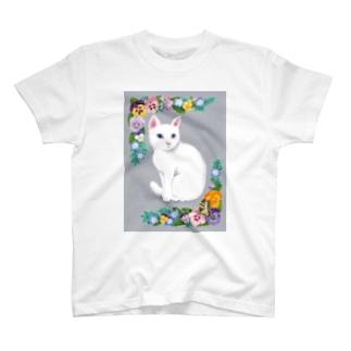 White cat T-shirts