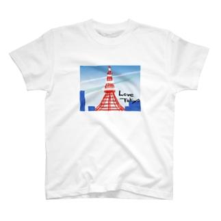 love:東京タワー T-shirts