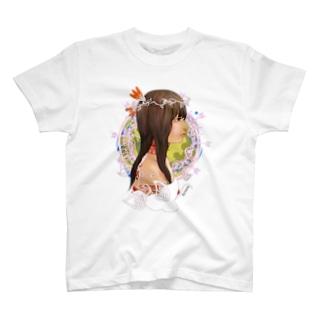 アメリカ大陸の少女B T-shirts