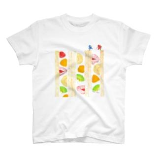フルーツサンド登山Tシャツ T-shirts